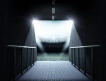 Тоннель стадиона стоковые фотографии rf