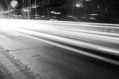 Тоннель с moving светами Стоковая Фотография RF
