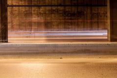 Тоннель с moving светами Стоковые Фото