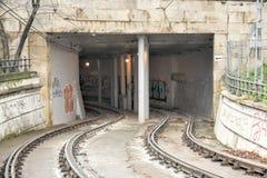 Тоннель трамвая - Будапешт, Венгрия Стоковые Изображения
