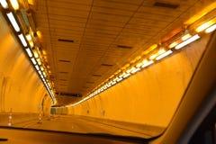 Тоннель через гору Стоковое фото RF