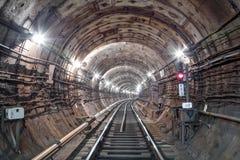 Тоннель NYC подземки Киев, Украин Kyiv, Украин Стоковые Фото