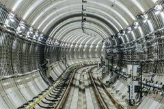 Тоннель NYC подземки Стоковое Изображение RF
