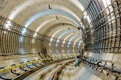 Тоннель NYC подземки Стоковые Изображения RF