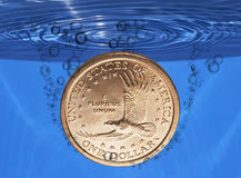 тонуть доллара стоковые фотографии rf