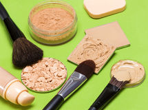 Тон и цвет лица кожи продуктов состава даже вне Стоковое Фото