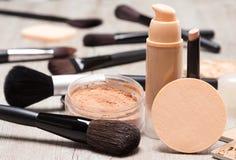 Тон и цвет лица кожи продуктов состава даже вне Стоковые Изображения RF