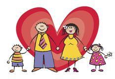тон кожи семьи счастливый светлый Стоковое Изображение