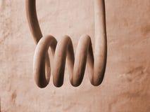 Тон крупного плана спиральной весны винтажный теплый стоковые фотографии rf