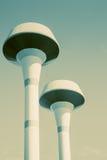 Тон цвета водонапорной башни винтажный Стоковые Изображения