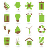 тон 2 иконы eco Стоковая Фотография