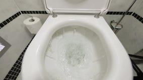 Топить вниз с туалета сток-видео