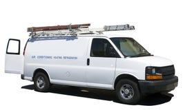 Топление кондиционера и ремонт Van рефрижерации стоковое изображение rf