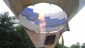 Топление огня газа воздуха раздувая видеоматериал