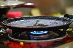 Топление сковороды стоковые фотографии rf