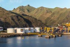 Топливные баки в порте Канарских островов Стоковая Фотография RF