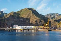 Топливные баки в порте Стоковое Фото