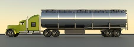 Топливозаправщик бензина перевод 3d Трейлер масла Truc топливозаправщика газа топлива иллюстрация штока