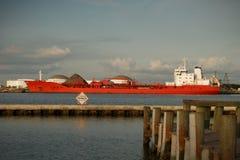 топливозаправщик корабля стыковки Стоковое Фото