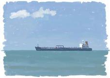 топливозаправщик покрашенный маслом иллюстрация штока