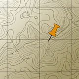 топография карты предпосылки Стоковое Изображение RF