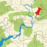 топография карты предпосылки Стоковая Фотография RF
