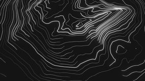 топография цифров конспекта 4K неоновая иллюстрация вектора