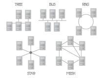 Топология сети Стоковые Фотографии RF