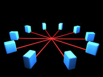 топология схемы сети иллюстрация штока