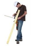 Топтащ клея 2 деревянных планки Стоковое Изображение