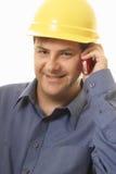 топтащ проекта менеджера строителя Стоковое фото RF
