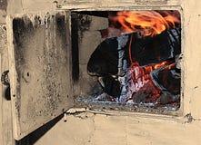 Топление, деревянное горение Стоковое Изображение RF