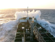 Топливозаправщик на море Стоковая Фотография RF