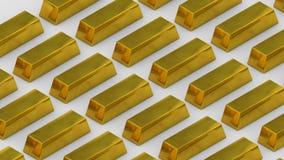 Торговать товаров финансов богатства казначейства бара золота миллиарда золота роскошный looping иллюстрация штока