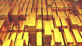 торговать товаров финансов слитка богатства казначейства золота в слитках миллиарда золота 4k роскошный иллюстрация вектора