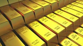 торговать товаров финансов слитка богатства казначейства золота в слитках миллиарда золота 4k роскошный иллюстрация штока