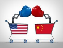 Торговая война Соединенных Штатов и Китая бесплатная иллюстрация