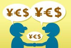 торговая операция валюты Стоковая Фотография RF