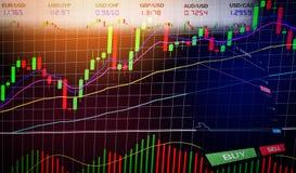 Торговая операция валют запаса - диаграммы диаграммы дела диаграмм финансовых/валют изображают диаграммой данные по данным по дос иллюстрация вектора