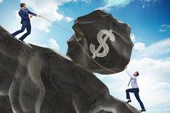Торговая операция торговца в американском долларе стоковые фотографии rf