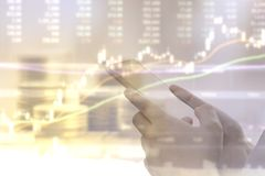 Торговая операция фондовой биржи Стоковое Изображение
