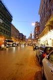 Торговая улица в Риме Стоковое Изображение RF