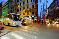 Торговая улица в Риме Стоковая Фотография