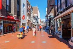 Торговая улица в Эйндховене, Нидерландах стоковое изображение rf