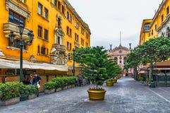 Торговая улица Лимы стоковое изображение rf