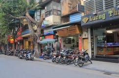Торговая улица Ханой Вьетнам Bac вида Стоковая Фотография
