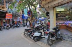 Торговая улица Ханой Вьетнам Bac вида Стоковое Фото