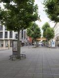 Торговая улица Koenigstrasse, Штутгарт Стоковая Фотография RF