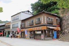 Торговая улица Omotesando в Miyajima Стоковая Фотография