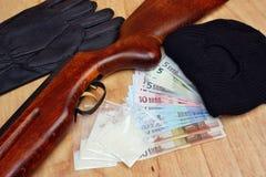 Торговец наркотикам преступника бандита вещей Стоковое Изображение